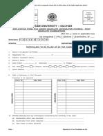 Assam University PG-UG-Exam-Form