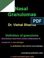 9. Nasal Granulomas