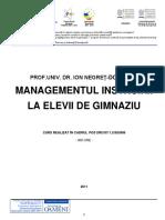 Managementul Instruirii La Elevii de Gimnaziu - Ion Negret-Dobridor