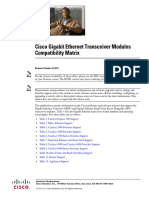 Cisco Gigabit Ethernet Transceiver Modules Compatibility Matrix. OL_6981
