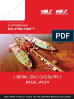 Liberalising Gas Supply in Malaysia