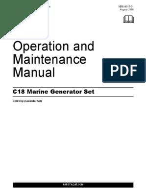 C18 Marine Generator Set Operation And Maintenance Manual Asbestos Fires
