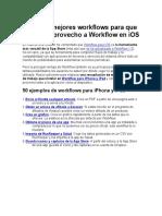 53 de Los Mejores Workflow en IOS
