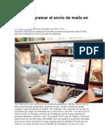 Cómo programar el envío de mails en OS X