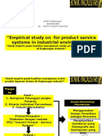 Empirical Study on Quality Management for Product Service System in Industrial Environment