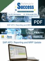 SAP APO Reporting and MRP Update