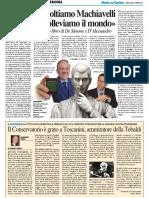 """""""Ascoltiamo Machiavelli e risolleviamo il mondo"""" - Il Resto del Carlino del 5 aprile 2017"""