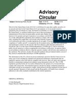 FAA Advisory Circular 91-91