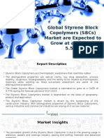 Global Styrene-Block-Copolymers (SBC) and Its Derivatives Market is Expected to Grow at a CAGR of 5.53%