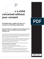 Support for a child conceived without your consent
