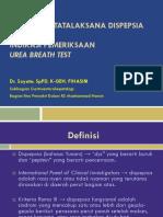 Algoritme Tatalaksana Dispepsia Dr. Suyata