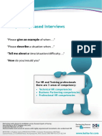 Compentency Based Interview Questions