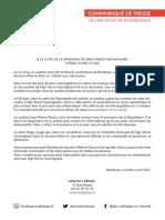 Communique Archeveche Bordeaux 20170406