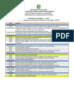 Calendario Academico 2014 2 Ead