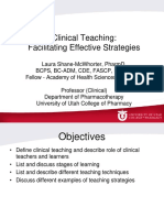 Clinical Teaching - Effective Strategies_LauraSM 2014 Concious
