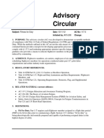 FAA Advisory Circular AC 117-3