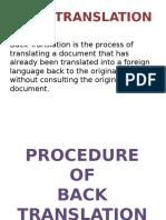 Back translation PPT