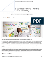 The Complete Guide to Building a Metrics-Driven Company