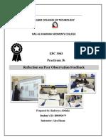 peer observation reflection - 1