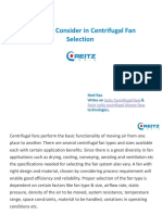 Factors to Consider in Centrifugal Fan Selection