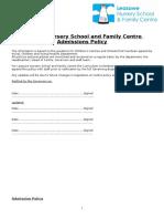 Admission Policy Feb 2017