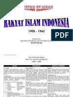Catatan Sejarah Rakyat Islam Indonesia 1905-1962