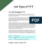 Different Types of VVT VTEC