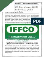 IFFCO Recruitment 2017