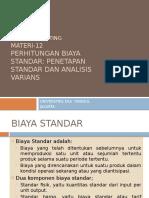Penetapan Standar Analisis Varians
