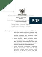 PMK No. 4 Ttg Penggunaan Gas Medik Dan Vakum Medik Pada FASYANKES