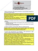 Principais Julgados de Direito Processual Penal 2016