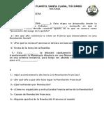 HISTORIA La Rev Francesa Cuestionario de CLASE Y COPIAS