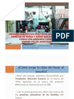 Presentacion Estudio prácticas educativas familias Villas Agricolas