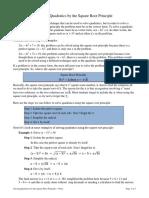 Solving Quads Sqrt Prin Notes