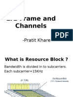 LTE Frame and Channels