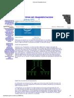Tipos de Fragmentación Base de Datos