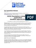 gcsc foundation scholarship application deadline approaching 04-04-2017