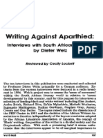 Writing against apartheid