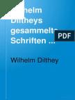 Dilthey - Gesammelte schriften