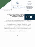 Ethics Committee Statement