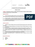 Tercera Jornada Institucional (Interinstitucional) Escuela Abierta - Cohorte 1 Año 3