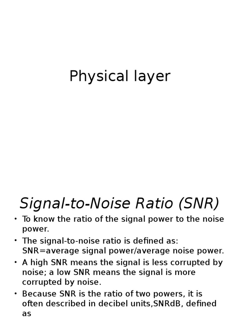 20846_signal to Noise Ratio   Signal To Noise Ratio   Bit Rate