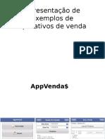 Apresentação de Exemplos de Aplicativos de Venda