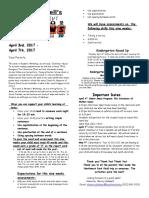 april 3-7 2017 newsletter