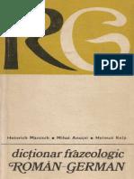 Dictionar Frazeologic Român-German