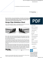 Harga Pipa Stainless Steel