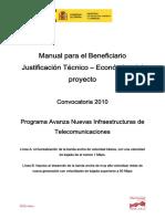 ManualJustificacionTecnicoEconomicaConv2010