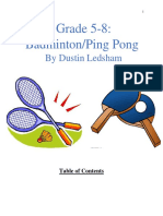 badminton ping pong unit