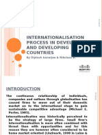 Internationalisation Process in Developed and Developing Countries