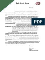 Financial Statement Letter